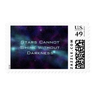 Stars Shine in Darkness Cosmic Inspiration Stamp