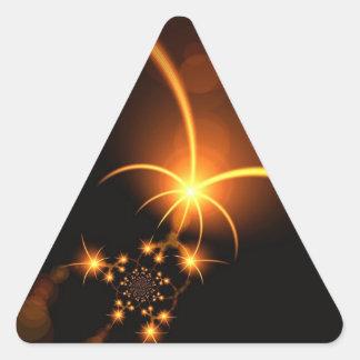 Stars Shining Digital Print Art Triangle Sticker