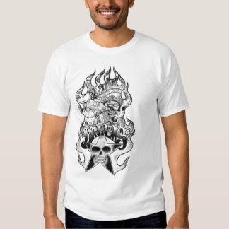 stars skull tattoo T-Shirt