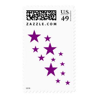 Stars sky postage stamps