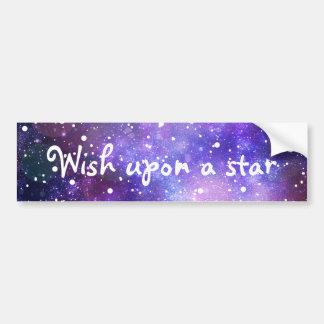 Stars space galaxy magical wish art car bumper sticker