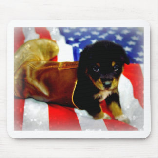 Stars Spangled Puppy Mouse Pads