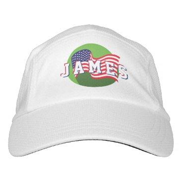 USA Themed Stars &  Spangled US American Flag. Add Name. Headsweats Hat