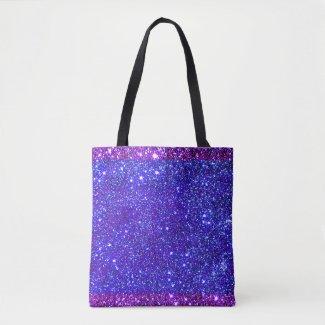 Stars Sparkly Girly Cute Princess Glittery Fun Tote Bag