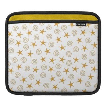 Beach Themed Stars & Spirals Sleeve For iPads