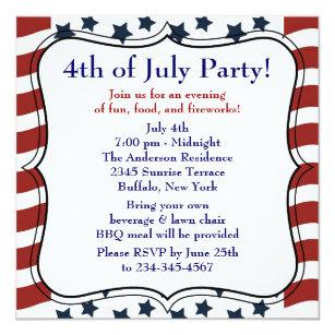 Bbq Party Invitations Announcements Zazzle