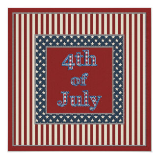 Stars & Stripes 4th of July Party Invites