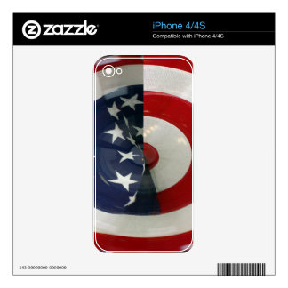 STARS & STRIPES ( abstract ) Decals For The iPhone 4S