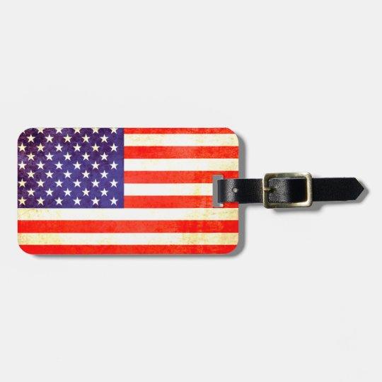 Stars & stripes America flag luggage tag