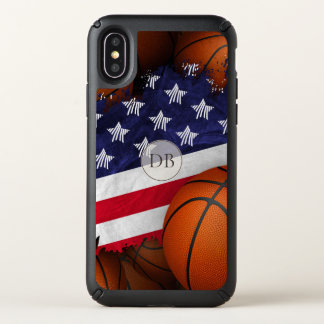 stars stripes American flag with basketball Speck iPhone X Case