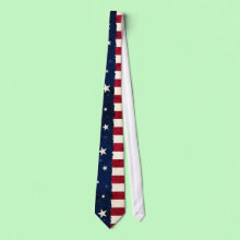 Stars & Stripes Americana Style USA Flag Patriotic Tie