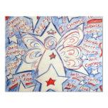 """Stars & Stripes Angel 4.25"""" X 5.5"""" Invitation Card"""