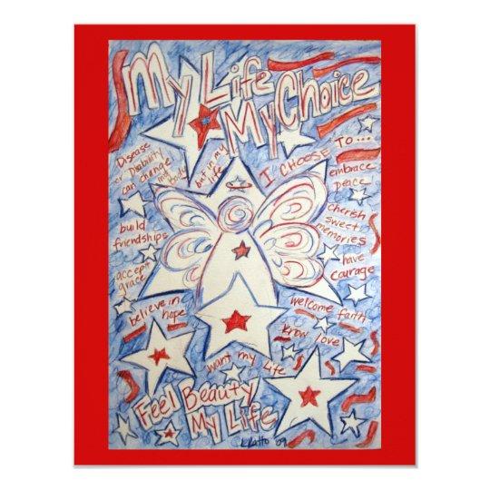Stars & Stripes Angel Invite Cards