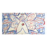 Stars & Stripes Angel Picture Card