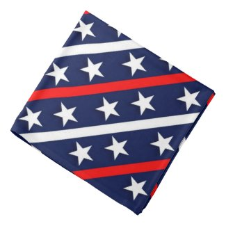 Stars & Stripes, Blue Backgroud Patriotic Bandana
