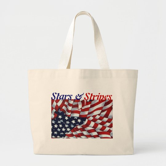 STARS & STRIPES by SHARON SHARPE Large Tote Bag