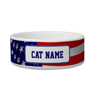 Stars & Stripes Cat Bowl