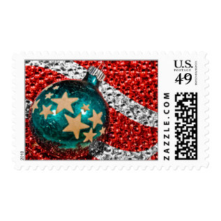 Stars Stripes Christmas Patriotic Military Holiday Postage at Zazzle