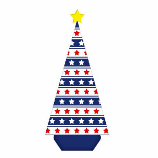 Stars Stripes Christmas Tree Cut-Out Magnet Cut Out