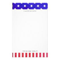Stars & Stripes - Custom Name Stationery