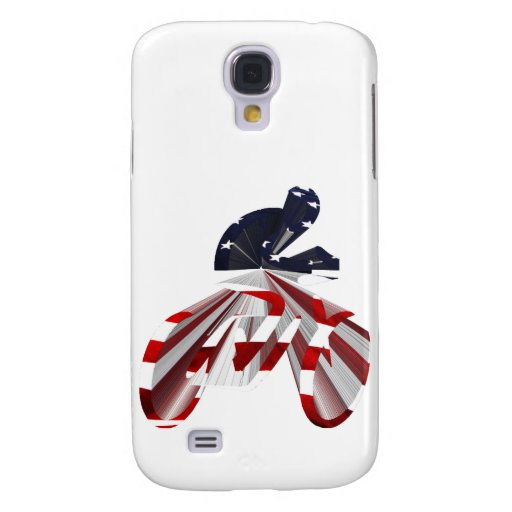 Stars & Stripes Cyclist on The Move Samsung Galaxy S4 Covers