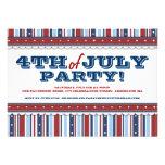 Stars & Stripes Festive 4th of July Party Invitation