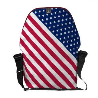 Stars Stripes Flag Commuter Travel Messenger Bag