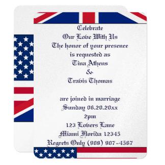 Stars Stripes Flag Love Wedding Bride Groom Peace Card