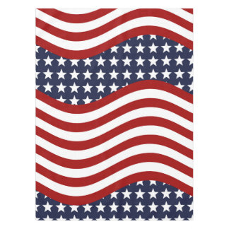 STARS & STRIPES FOREVER! (American flag design) ~ Tablecloth