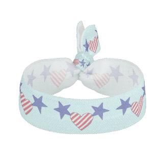 Stars Stripes Hearts Patriotic Hair Ties