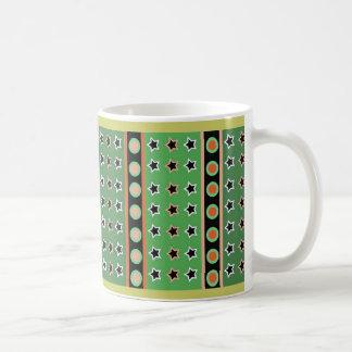 STARS & STRIPES IN GREEN & BLACK CLASSIC WHITE COFFEE MUG