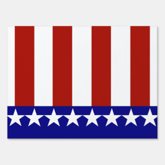 Stars & Stripes of Red White And Blue Yard Sign