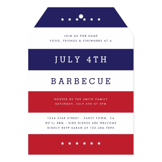 Stars & Stripes Party Invite