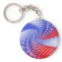 Stars & Stripes Patriotic Keychain