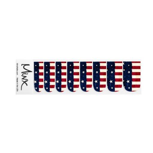 Stars Stripes Patriotic Minx Nail Art Zazzle