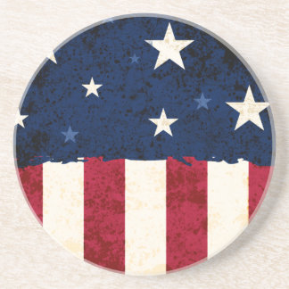 Stars & Stripes Patriotic Sandstone Coaster