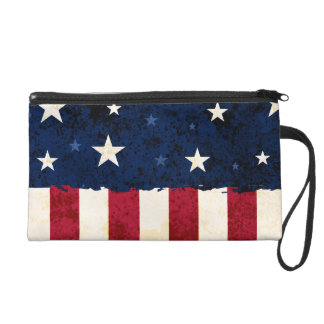 Stars & Stripes Patriotic Wristlet Purse