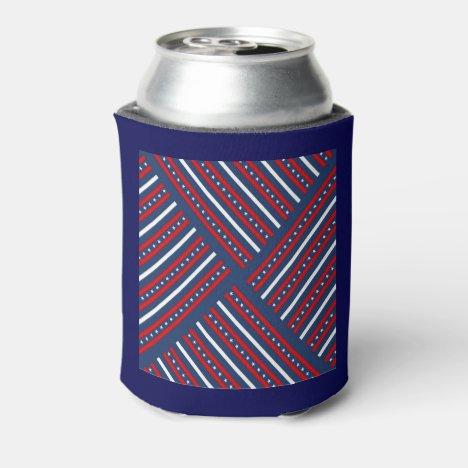 Stars & Stripes Patterned Can Cooler