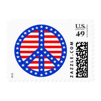 Stars & Stripes Peace Postage