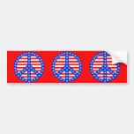 Stars & Stripes Peace Sign Bumper Stickers