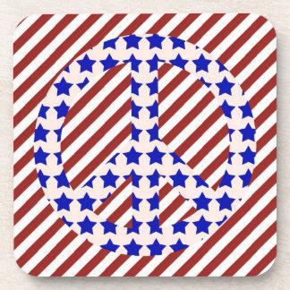 Stars & Stripes Peace Sign Coasters