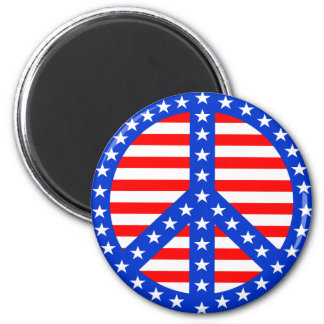 Stars & Stripes Peace Sign Refrigerator Magnet