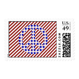 Stars & Stripes Peace Sign Postage Stamp