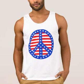 Stars & Stripes Peace Sign Tank Top