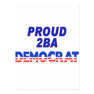 Stars Stripes Proud 2BA Democrat Postcard