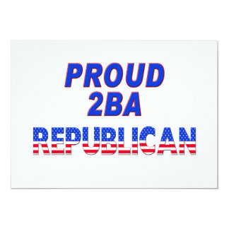Stars Stripes Proud 2BA Republican Card