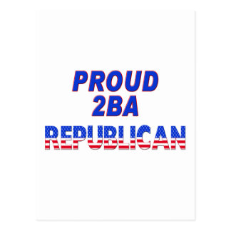 Stars Stripes Proud 2BA Republican Postcard