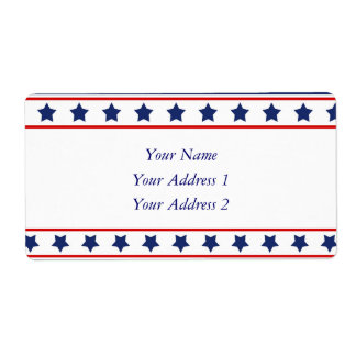 Stars & Stripes - Red White and Blue Patriotic Shipping Label