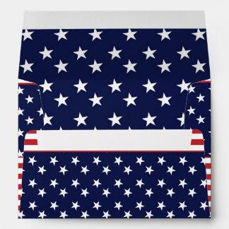 Stars & Stripes Red White Blue Invitation Envelope