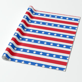 Stars & Stripes | Red White Blue Wrapping Paper